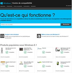 Centre de compatibilité Windows : Trouver des mises à jour, des pilotes et des téléchargements pour Windows 8, Windows RT et Windows 7