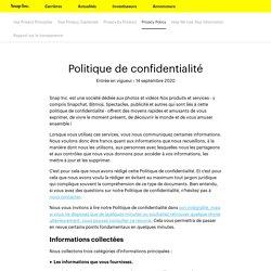 Centre de Confidentialité–Snap Inc.