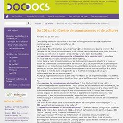 Du CDI au 3C (Centre de connaissances et de culture)
