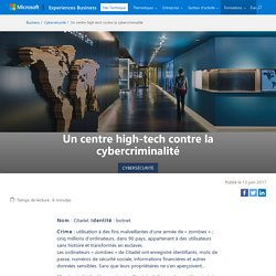 Un centre high-tech contre la cybercriminalité