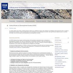 IGEAT: Centre d'Etudes du Développement durable (CEDD)