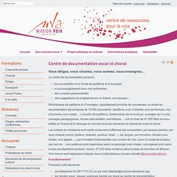 Centre de documentation vocal et choral