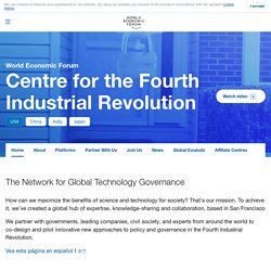 Home > Centre for the Fourth Industrial Revolution