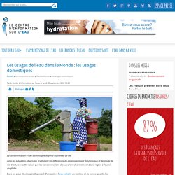Consommation d'eau domestique en fonction du niveau de vie