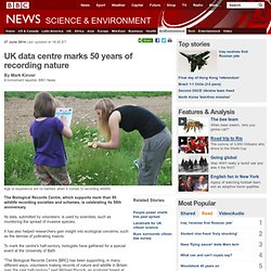 UK data centre marks 50 years of recording nature