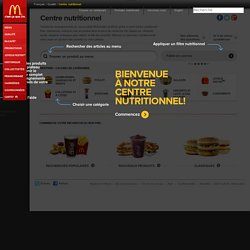 McDo : Centre nutritionnel