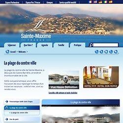 La plage du centre ville - Site Officiel de l'Office de Tourisme de Sainte Maxime