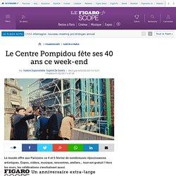 Le Centre Pompidou fête ses 40 ans ce week-end