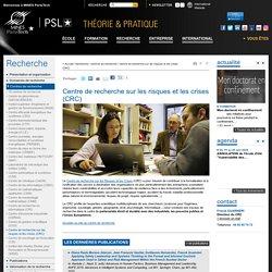 Centre de recherche sur les risques et les crises (CRC)