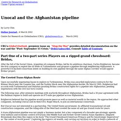 Unocal and the Afghanistan Pipeline