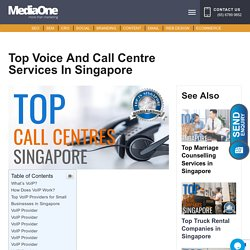 Top Voice and Call Centre Services in Singapore