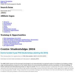 Centre Studentships 2016