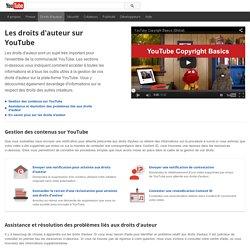 Centre YouTube relatif aux droits d'auteur– YouTube