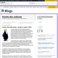 Centres éducatifs fermés : double ou quitte ? - 2013