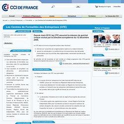 Les CFE: Centres de Formalités des Entreprises