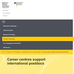 Career centres support international postdocs