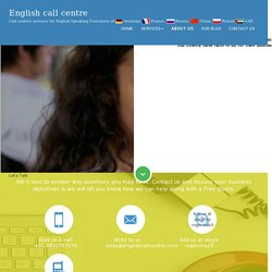 Call centres services in India, English call centres in India