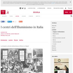 I centri dell'Illuminismo in Italia