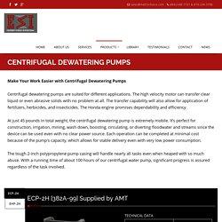 Centrifugal Dewatering Pump