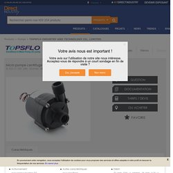 Micro pompe centrifuge / de circulation / à eau / avec moteur brushless DC - TL-C01-C 12V, 24V, 16 l/min, 18 l/min, 6m, 8m
