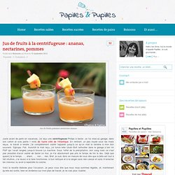 Jus de fruits à la centrifugeuse : ananas, nectarines, pommes