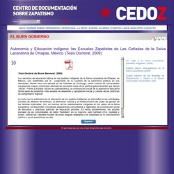 CEDOZ - Centro de Documentación sobre Zapatismo