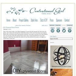 Blog Archive DIY Plywood Plank Floors