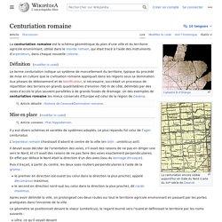 Centuriation romaine