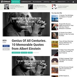 Genius Of All Centuries. 10 Memorable Quotes from Albert Einstein