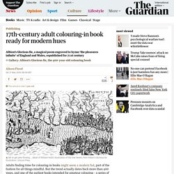 17th-century adult colouring-in book ready for modern hues