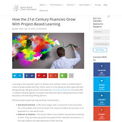 How the 21st Century Fluencies Grow With Project-Based Learning