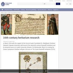 Rauwolf: 16th-century herbarium research
