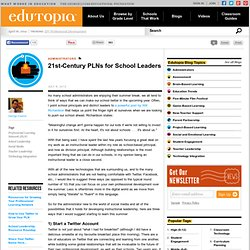 21st-Century PLNs for School Leaders