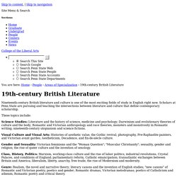 19th-century British Literature — Department of English