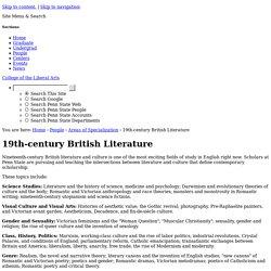 19th-century British Literature — Department of English