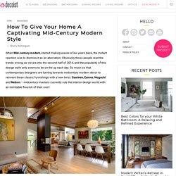 Mid-Century Modern Style Design Guide, Ideas, Photos