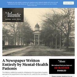 A 19th-Century Newspaper and a New Kind of Mental-Health Treatment