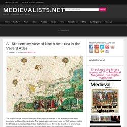 A 16th century view of North America in the Vallard Atlas