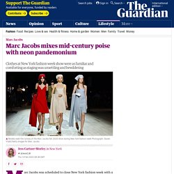 Marc Jacobs mixes mid-century poise with neon pandemonium