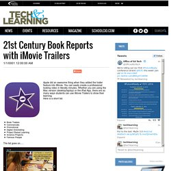 21st Century Book Reports with iMovie Trailers