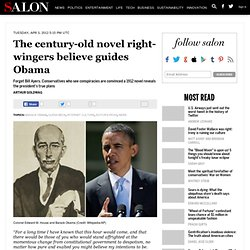 The century-old novel right-wingers believe guides Obama - Barack Obama