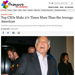Top CEOs Make 271 Times More Than the Average American