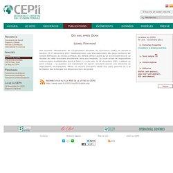 Dix ans après Doha - étude du Centre français d'étude et de recherche en économie internationale CEPII