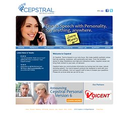 Cepstral Text-to-Speech