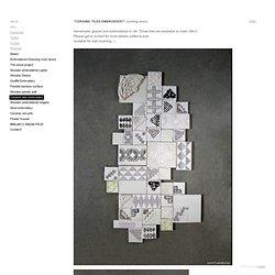 Ceramic tiles embroidery - Coralie Bonnet Design Studio