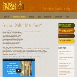 Potters for Peace - Ceramic Water Filter Project