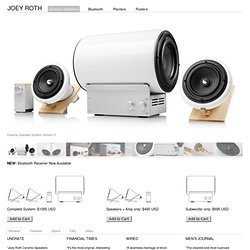 Ceramic Speakers designed by Joey Roth - simple, modern full range drivers for desktop or entire room