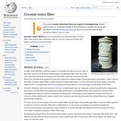 Wikipédia - Ceramic water filter