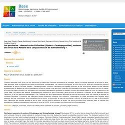 Biotechnologie, Agronomie, Société et Environnement 01/07/14 Les porcheries : réservoirs des Culicoides (Diptera : Ceratopogonidae), vecteurs des virus de la Maladie de la Langue bleue et de Schmallenberg ?