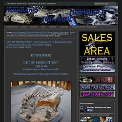 OUT OF PRODUCTION! 1:18 Ceratosaurus vs. Kentrosaurus by Foulkes and sold by NICE-N Model Designs